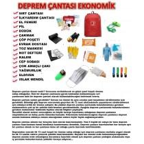 Deprem Çantası Doğal Afet Çantası Acil Durum Kiti EKONOMİK PAKET!!!!!!!