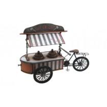 Dekoratif Metal Dondurma Makinesi Üç Tekerlekli