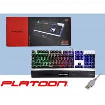 PLATOON PL-466 GAMER USB IŞIKLI MEKANİK RAİNBOW OYUNCU KLAVYESİ