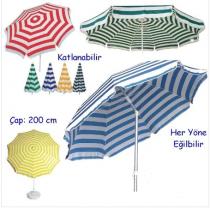 2 mt (EKONOMİK SERİ KUMAŞ) Eğilebilir Plaj Şemsiyesi BİDON HARİÇ