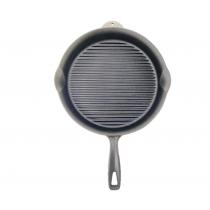 30 CM El Yapımı Yuvarlak Döküm Tava Izgaralı Döküm Steak Tava