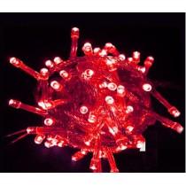 Kırmızı 10 Metre Led Işık–100 Adet Led Yılbaşı Ağacı Aydınlatma