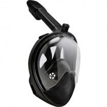 Full Face Siyah Şnorkel  Dalış Şnorkel Tıkaç Hediyeli