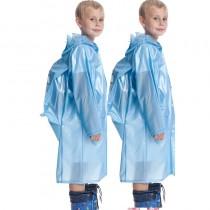 Mavi Çocuk Yağmurluk Okul Çantalı Yağmurluk Su Geçirmez Kalın