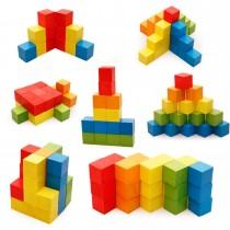 100 Adet Ahşap Yapı Taşları Oyunları Çocuk Eğitim İstifleme