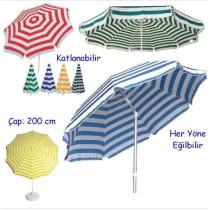 2 MT Çapında 1. Sınıf Plaj Şemsiyesi  19lt BİDON DAHİL Şemsiye