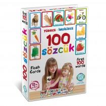 Çocuklar İçin Türkçe İngilizce 100 Sözcük Kartları İlk Sözlüğüm
