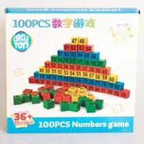 100 Parça Sayı Öğrenme Eğitici Oyuncak Numara Oyunu