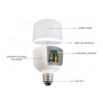 LED Bulb E27 12W 20W 30W 40W 50W  Beyaz Işık Torch LED Ampul