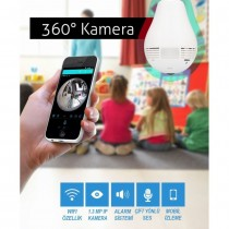 Kingboss HD Kablosuz IP Kamera WİFİ Panoromik Güvenlik Kamera