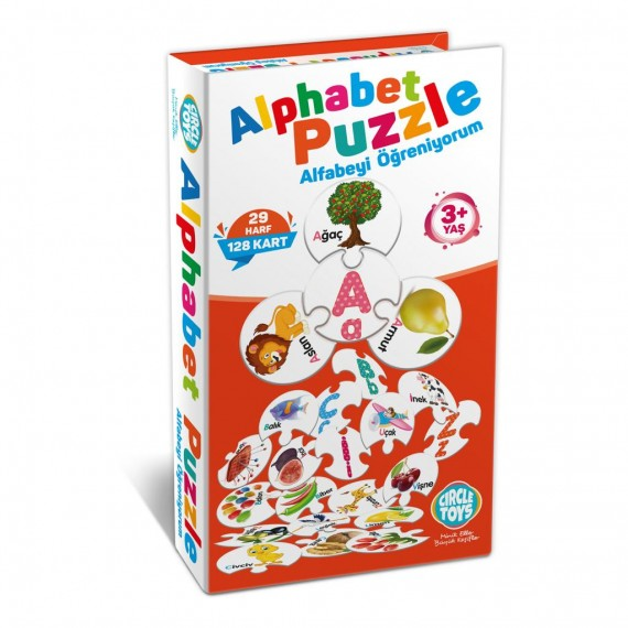 Okul Oncesi Alfabe Puzzle Alfabe Ogreniyorum Hayvan Alfabe Puzzle