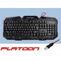 PLATOON PL-474 USB OYUNCU DAMARLI IŞIKLI KLAVYE