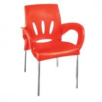 1 Adet Verona Aluminyum Ayaklı Sandalye Bahçe Piknik Sandalye