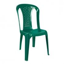 Renkli Kolsuz Plastik Bahçe Sandalyesi Yeşil-Mavi-Bordo Renk