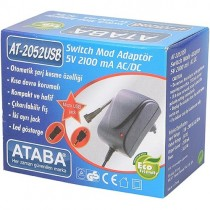 Ataba AT-2052 USB 5V 2.1Ah Switch Mode Adaptör ÇİFT JACKLI MİNİ