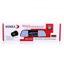 Wondex WD-505 Aynalık Monitör + Geri Vites Kamerası 5 inç Ekranlı