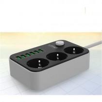 Ldnio Priz 6'lı USB 3'lü Anahtarlı Topraklı Çocuk Korumalı