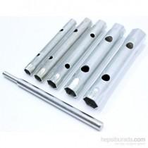 6 Parça Kovan Tipi Lokma Anahtarı Seti 8-17 mm Arası