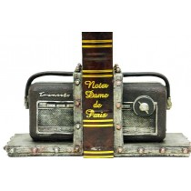 Kitap Stoper Radyo Kahverengi Kitaplık Raf