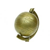 Dünya Heykel Yerküre Antik Bronz 5