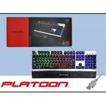 Platoon PL-466 Işıklı Led Mekanik Hisli Gaming Oyuncu Klavye
