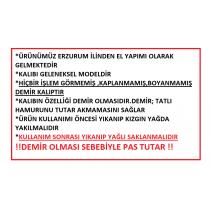 ERZURUM DEMİR TATLISI KALIBI ORİJİNAL MODEL (KROM DEĞİL DEMİR)