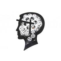 Duvar Saati Çarklı Beyin Saati Hareketli Duvar Saati