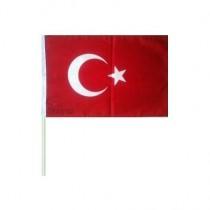 50 ADET Sopalı Sallama Türk Bayrağı 30x45 CM (Sıcak Kesim)