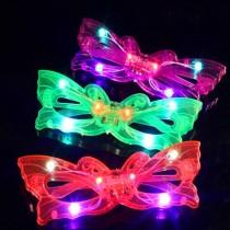 12 Adet Işıklı Kelebek Parti Gözlüğü Karışık Renk
