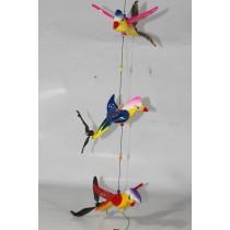 3 LÜ Renkli Rüzgar Kuşu Kapı Süsü Rüzgar Çanı Kapı Çanı