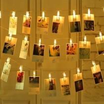 10 lu Led Işıklı Fotoğraf Mandalı Işıklı Fotoğraf Askısı Mandal