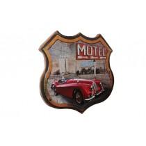 Dekoratif 3D Motel Kırmızı Chevrolet Temalı Duvar Panosu