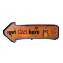 Işıklı Gas Here Yön Tabelası Cafe Restorant Pano Levha Restourant
