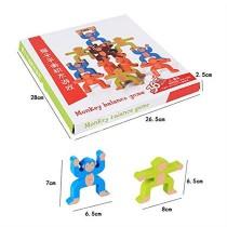 Ahşap Maymun Kuleleri Denge Oyunu Eğitici Geliştirici Oyuncak Zek