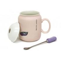 Kupa Float Kaşıklı Çay Kahve Fincanı Kaşıklı Kahve Bardak