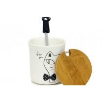 Kupa Cat Time Kedili Çay Kahve Fincanı