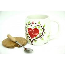 Kupa Tabiat Desenli Kahve Fincanı Çay Kahve Bardağı