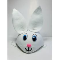 Çocuk Tavşan Şapkası Beyaz Renk