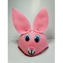 Çocuk Tavşan Şapkası Pembe Renk