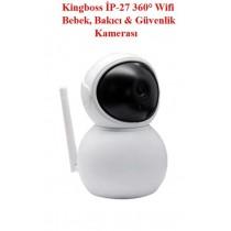 Kingboss Ip-27 Hd Kamera Bebek Takip İzleme Kamerası Bebek Takip