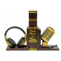 Kitap Stoper Mikrofon Kulaklık Çift Taraflı Kitap Tutucu