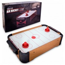Mini Ahşap Air Hockey Masaüstü Oyunu Pilli Hava Hokeyi Masası