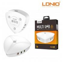 LDNIO A6801 QC3.0 Hızlı Şarj 6 Port USB Masaüstü USB Şarj Cihazı