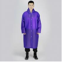 Mor Erkek Kadın Yağmurluk Kapşonlu Su Geçirmez Yağmurluk
