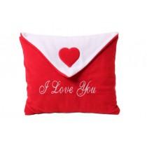 Aşk Yastığı Zarf Modeli Sevgili Yastığı Kırmızı Aşk Yastık