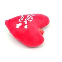 12 cm Kalp Peluş Yastık I Love You Baskılı Aşk Yastık