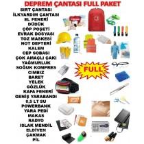 45 PARÇA Deprem Çantası  Afet Çantası Acil Durum Kiti FULL PAKET!!!