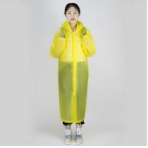 Sarı Erkek Kadın Yağmurluk Kapşonlu Su Geçirmez Yağmurluk