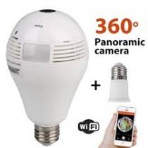 128 gb Panoramik Ampul Tipi HD Wifi IP Kamera