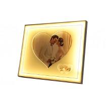 32 Cm Ledli Kalpli Çerçeve Resim Çerçevesi Foto Albüm